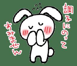 a timid rabbit sticker #464175