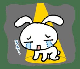 a timid rabbit sticker #464179