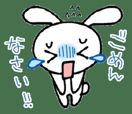 a timid rabbit sticker #464183