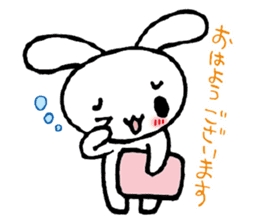 a timid rabbit sticker #464186