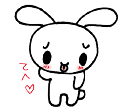 a timid rabbit sticker #464187