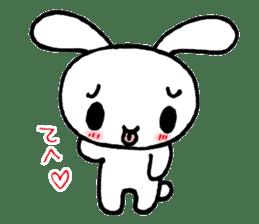 a timid rabbit sticker #464187