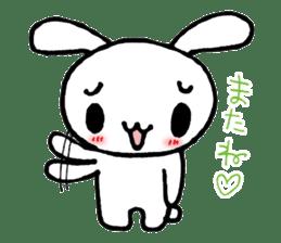 a timid rabbit sticker #464190