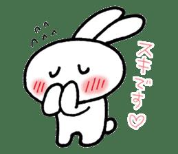 a timid rabbit sticker #464191