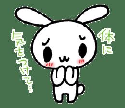 a timid rabbit sticker #464192