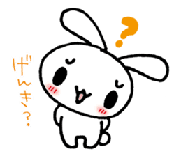 a timid rabbit sticker #464193