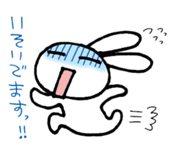 a timid rabbit sticker #464194