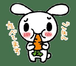 a timid rabbit sticker #464196