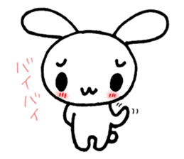 a timid rabbit sticker #464198