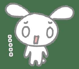 a timid rabbit sticker #464199