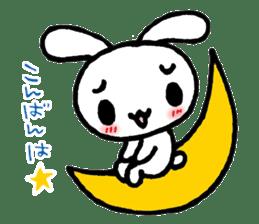 a timid rabbit sticker #464200