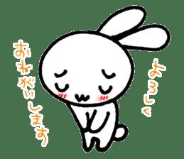 a timid rabbit sticker #464201