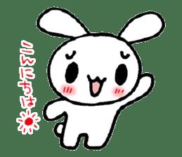a timid rabbit sticker #464202