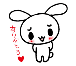 a timid rabbit sticker #464212