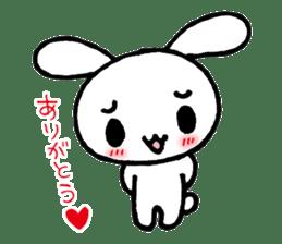 a timid rabbit sticker #464212