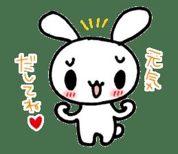 a timid rabbit sticker #464213