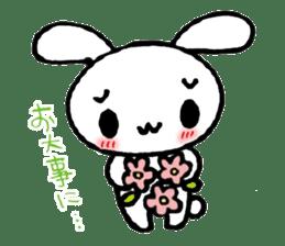 a timid rabbit sticker #464214