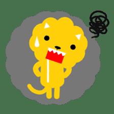 Lion bite sticker #464337