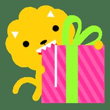 Lion bite sticker #464339