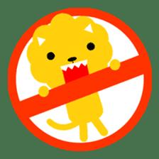 Lion bite sticker #464340