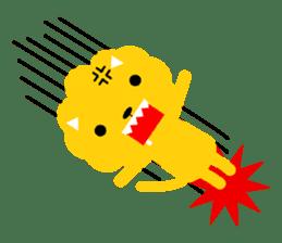 Lion bite sticker #464341