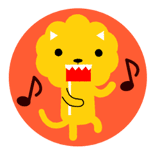 Lion bite sticker #464343