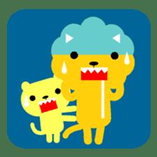 Lion bite sticker #464359