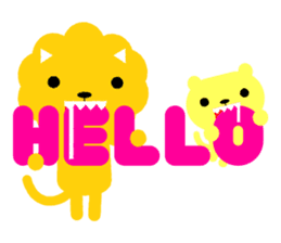 Lion bite sticker #464369