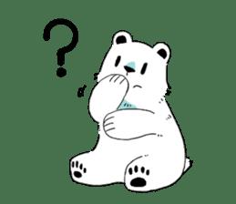 Polar Bear and small Bird sticker #464620