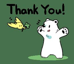 Polar Bear and small Bird sticker #464626