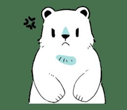 Polar Bear and small Bird sticker #464630