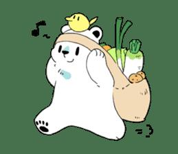Polar Bear and small Bird sticker #464631