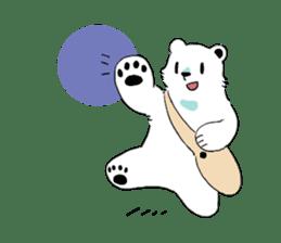 Polar Bear and small Bird sticker #464634