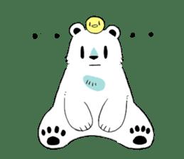 Polar Bear and small Bird sticker #464636