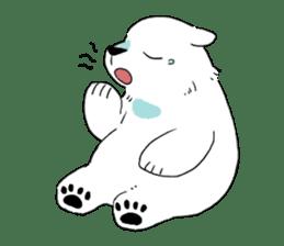 Polar Bear and small Bird sticker #464645