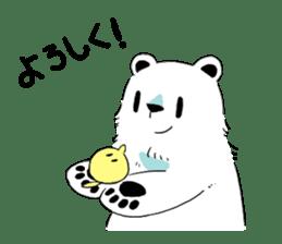 Polar Bear and small Bird sticker #464647
