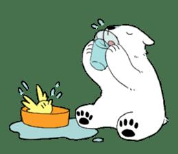 Polar Bear and small Bird sticker #464652