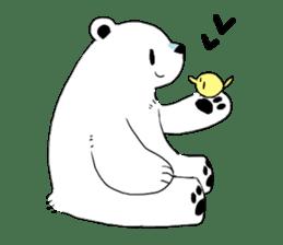 Polar Bear and small Bird sticker #464654