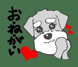 LOVE Miniture Schunauzer sticker #465225