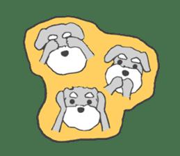 LOVE Miniture Schunauzer sticker #465254