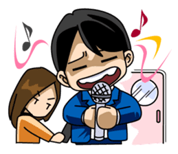 A salaried worker's everyday life sticker #467085