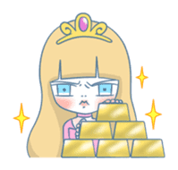 The Grumpy Princess sticker #469365