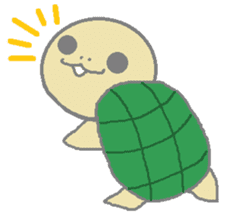 One's own pace tortoise sticker #469954