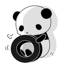 Panda and rabbit(English version) sticker #471658