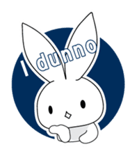 Panda and rabbit(English version) sticker #471660