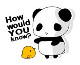 Panda and rabbit(English version) sticker #471662
