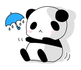 Panda and rabbit(English version) sticker #471665