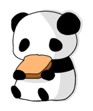 Panda and rabbit(English version) sticker #471669