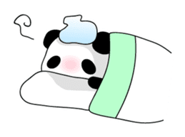 Panda and rabbit(English version) sticker #471673