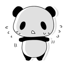 Panda and rabbit(English version) sticker #471675